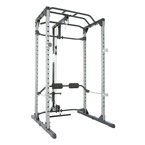 - Fitness Reality 810XLT Super Max Power Rack Cage with LAT Pull Down and Low Row Cable Attachment