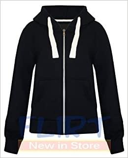 Fashion Wardrobe Womens Plain Hoodie Ladies Hooded Zip Zipper Top Sweat  Shirt Jacket Coat Sweater (USA 6   UK 6-8 (Small) 59a2208361