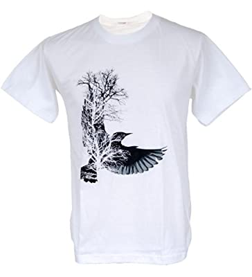 Tshirtmystyle- Bird Tree Design Graffiti Art Graphic T-shirt