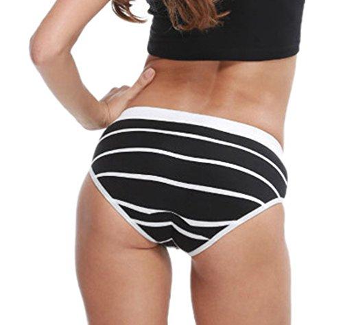 Anguang Hombres y Mujer Ropa interior Unisexo Íntimos Pantalones cortos Boxer Bragas Calzoncillos Bragas Negro 2