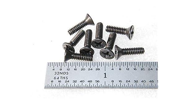 100pcs Aluminum Fastener Machine Screw Phillips Flat Head 8 x 32 x 1//2 in.
