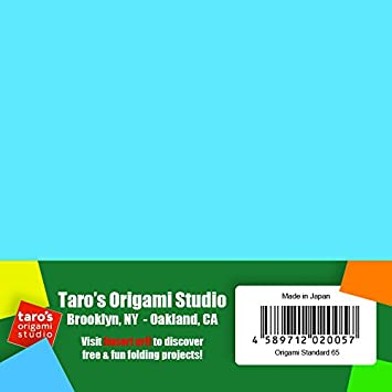 Amazon Standard 65 Made In Japan Taros Origami Studio Premium Japanese Paper 6 Inch Sheets Single Side 18 Colors Including Gold And