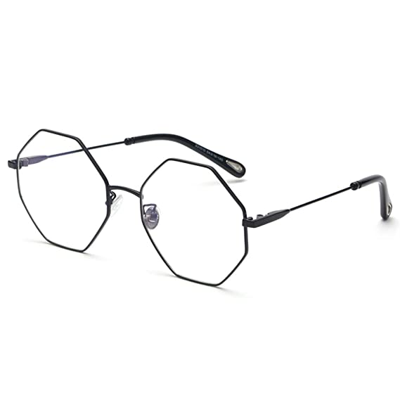8592b82a22 Optical Eyeglasses Frame Women Computer Polygon Octagonal Glasses Frames  for Men (black frame)  Amazon.ca  Clothing   Accessories