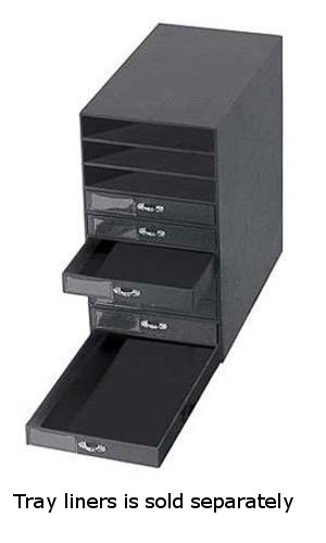 Amazoncom Black Leatherette 10 Drawer Jewelry Storage Organizer 14