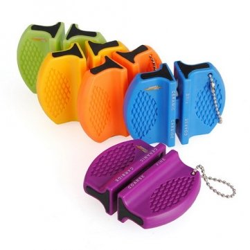 Souked Mini Ceramic Carbide 2 Step Sharpener Camp Kitchen Pocket ()