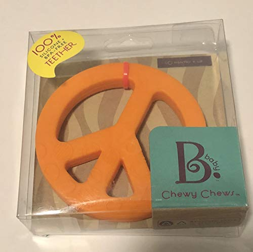 Chewy Chews Baby Teether- Orange Peace Sign