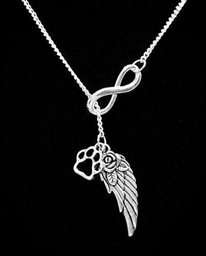 Ball In Lariat Necklace (Gift For Her, Infinity Paw Print Necklace, Angel Wing Dog In Heaven Bulldog Football Veterinarian Forever Y Lariat)