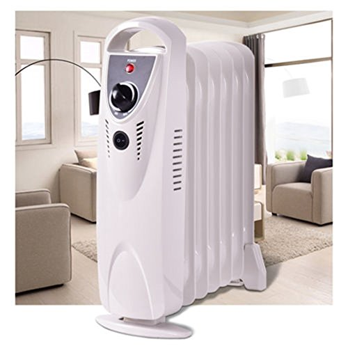 Portable Heat 700W ComforTemp Electric Oil Filled Radiator Heater Thermostat Room Radiant Heat Oil Filled Heaters