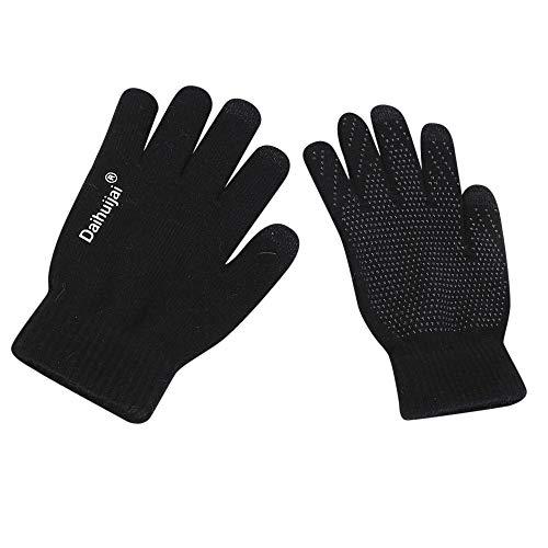 Vest Performance V-neck Sweater (DEATU Sale Unisex Adult Winter Warm Smart Touchscreen Gloves for Women Men Knit Wool Lined Texting Work(Black,Onesize))
