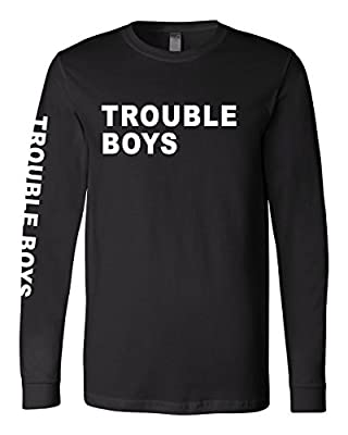 The Chainsmokers Trouble Boys Black Long Sleeve Shirt
