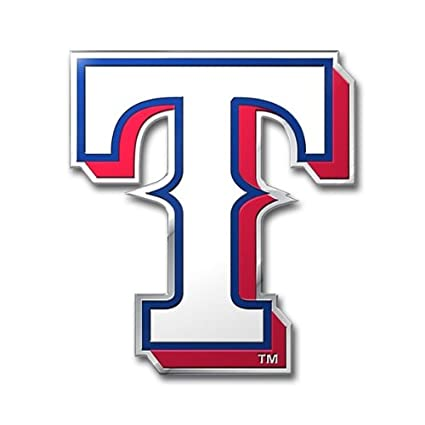 amazon com mlb texas rangers die cut color automobile emblem rh amazon com texas rangers logo image png Texas Rangers Logo Stencil