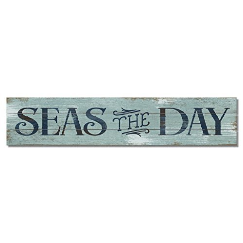 American Woodcrafters Seas The Day Pine Pallet Sign, 36 x 7.5 inches