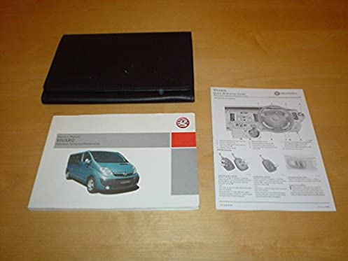 vauxhall opel vivaro van owners manual handbook c w wallet 2001 rh amazon co uk vauxhall vivaro instruction manual vauxhall vivaro owner's manual pdf