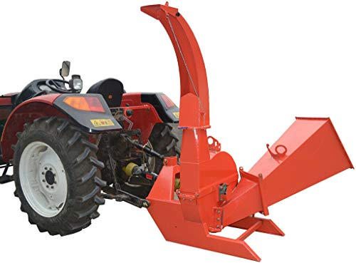 Wood Chipper Tractor Attachment 3 Point PTO Cutter Leaf Mulcher Shredder, Tractors 35 to 100 HP, 6.5 x 10 Inch Chipper Capacity, 1 Year Parts Warranty, Model BX62S