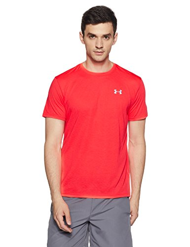 Under Armour Men's Threadborne Streaker Short Sleeve Shirt,Marathon Red /Reflective, ()