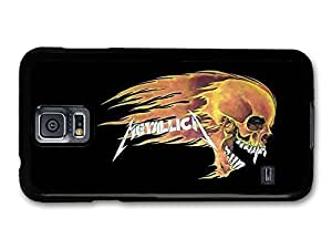 AMAF ? Accessories Metallica Skull on Flames Illustration case for Samsung Galaxy S5