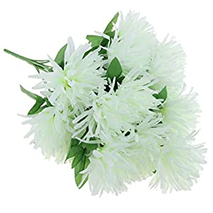 non-brand Simulation Chrysanthemum Bouquet Memorial Day Cemetery Home Decor - White 25