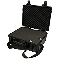 SRA 37-7-BK Watertight Case with Foam 20 x 15 x 7 inches - Black