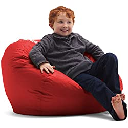 Big Joe Bean Bag, 98-Inch, Flaming Red