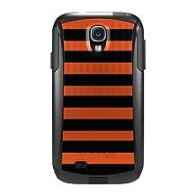 CUSTOM Black OtterBox Commuter Series Case for Samsung Galaxy S4 - Black & Orange Bold Stripes