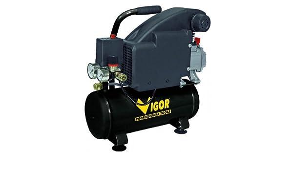 Vigor Vca-9L - Compresores, 220 V, 1 Cilindro, De Accionamiento Directo, 1 Hp, 9 L: Amazon.es: Bricolaje y herramientas