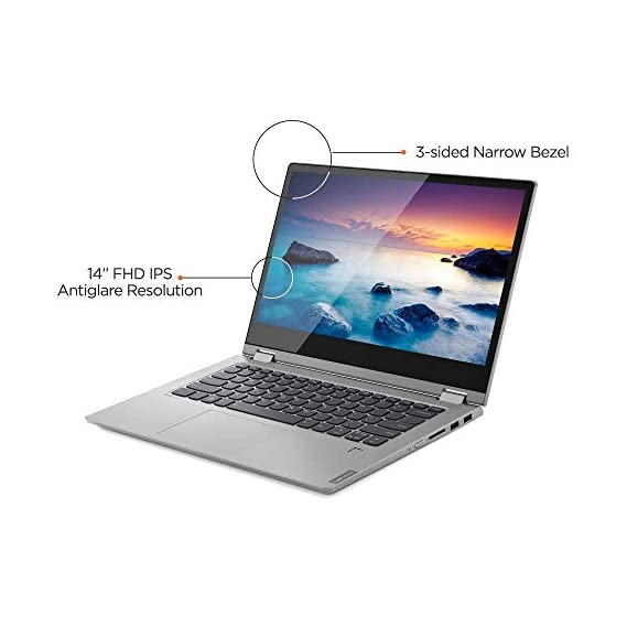 Lenovo Ideapad C340 Intel 8th Gen Core i3 14-inch FHD 2 in 1 Convertible Laptop (4GB/512 GB SSD/Win 10/Office 2019/Platinum/1.65kg), 81N4006MIN