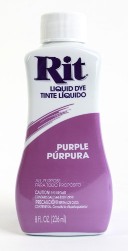 Rit Dye Liquid Dye, 8 fl oz, Purple, 3-Pack