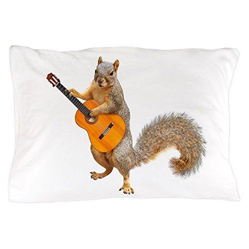 CafePress Squirrel Acoustic Guitar Standard Size Pillow Case, 20