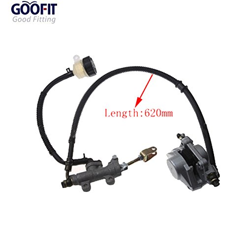 GOOFIT Motorcycle Disc Brake Master Cylinder Quad Caliper for 50cc 70cc 90cc 110cc125cc Dirt Bike Scooter C029-107