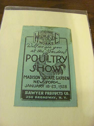 Madison Square Garden Poultry Show, 1928 poster stamp, RARE