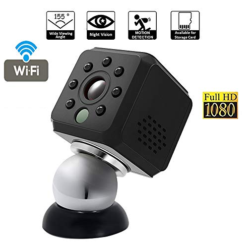 OMZBM 1080P HD 360° Rotate Wireless Wifi Mini Camera Smart Home Portable Multifunction Small Security Nanny Camera With Motion Detection For IOS/Android /Ipad/PC