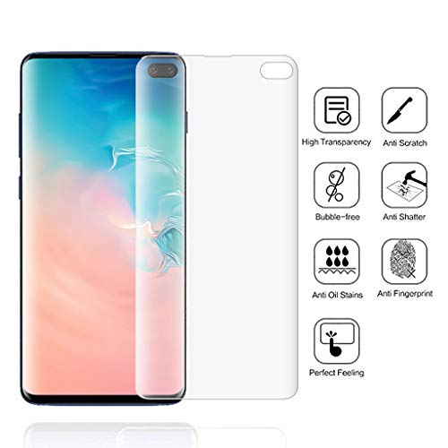 (Euone Screen Protector, for Samsung S10 Plus Clear Soft Hydrogel Film TPU Screen Protector 6.1 inch)