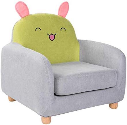 子供用ソファ子供用ソファー子供用赤ちゃんかわいい怠惰なソファミニ動物漫画 漫画のアームチェア 子供用家具 (Size:A*Fox; Color:Green)