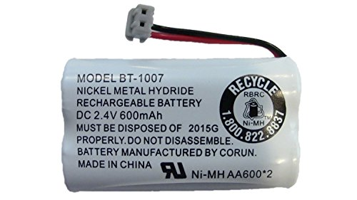 New! Genuine Uniden BBTY0651101 BT-1007 NiMH 600mAh DC 2.4V Rechargeable Cordless Telephone Battery ()