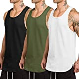 COOFANDY Men's 3 Pack Tank Tops Workout Gym Shirts