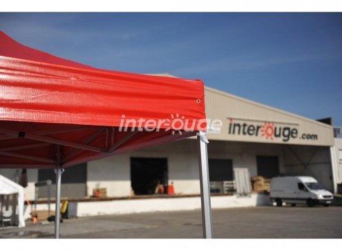 Zelt Faltzelt 5x5m Marktstand Marktzelt Gartenzelt Messestand mit 4Seitenwänden (Rot)