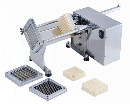 Automatic Potato Cutter - Electric Stainless Steel French Fries Cutter Slicer Professional Fries Chips Maker Potatoes Carrots Cucumbers Cutting Machine Kitchen Gadgets Supplies with 3 Different Size Blades