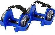 Heel Wheel Roller Skates Rollers Light Attachable Shoe Trainer Wheels for Kids Adjustable Strap Wheels Shoe Sk