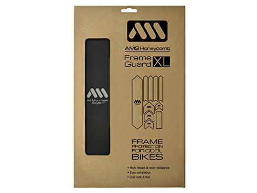 All Mountain Style AMSFG2BKSV Honeycomb High Impact Frame Guard XL - Protects Your Bike from Scratches and dings, -