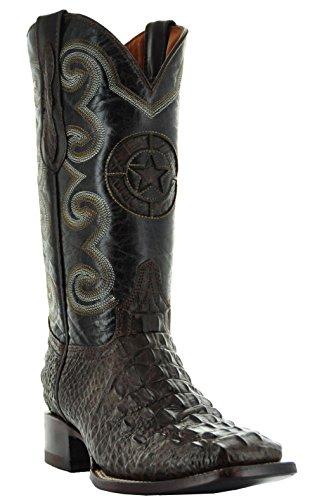 Kajman Croc Mens Cowboy Stövlar Av Soto Stövlar Bruna