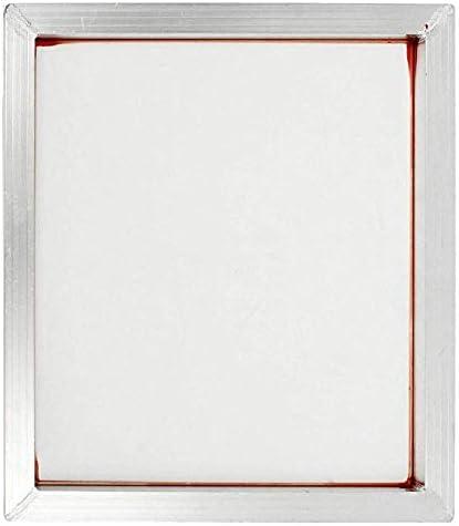 INTSUPERMAI 6pc 18inch x20inch Aluminum Silk Screen Frame with 110 Mesh White Pre-Stretched Silk Screen Printing Frame