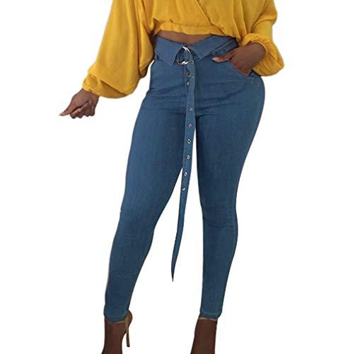 Taille Plus Pieds Bleu Casual Longs Taille Ceinture Etroits Femme Pantalons Clair avec de Pantalon Crayon Haute Pantalon Leggings Slim lgant Mode La fwgYBI8qW
