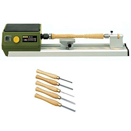 Proxxon 37020 DB 250 MICRO Lathe with Proxxon 27023 5-Piece Turning Tool Set