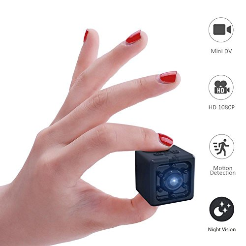 "KOBWA 1080P Mini Sports Camera, 0.8"" Size 4K Full HD Portable Indoor Covert Camera with Night Vision and Motion Detective for Home Office"