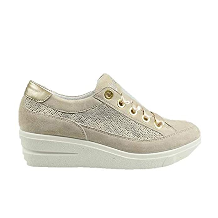 Igi amp;co 3151333 Sneakers Scarpe Zeppa Donna Beige Pelle