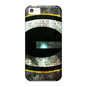 Shock Absorbent Cell-phone Hard Covers For Apple Iphone 5c With Provide Private Custom Lifelike Green Bay Packers Image Aimeilimobile99
