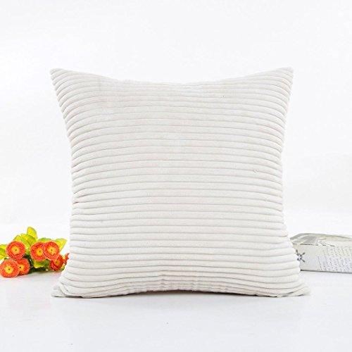 """Vovotrade 18''X18"""" Plush Pillow Case Sofa Waist Throw Cushion Cover Home Decor Cushion Cover (White)"""