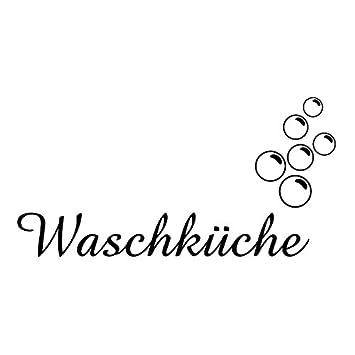 Wadeco Waschküche Wandtattoo Wandsticker Wandaufkleber 35 ...