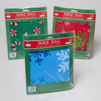 1 Plastic Christmas/Holiday Bike Gift Bag, 60x72 - Regent Gift
