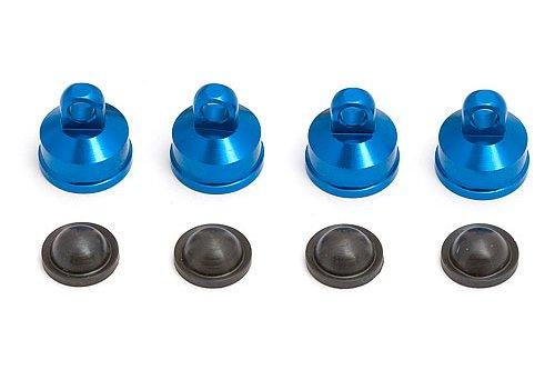 Team Associated 25404 Factory Team Aluminum Shock Caps (Blue) (4) Associated Factory Team Aluminum Shock